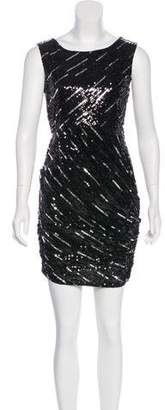 Alice + Olivia Silk Sequined Dress
