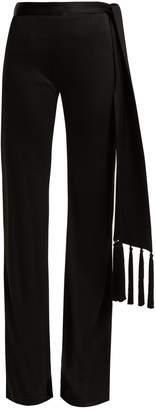 GALVAN Vesper tassel-belt flared trousers