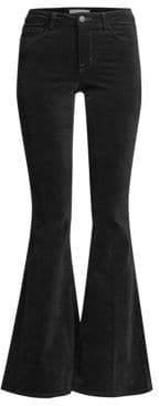 L'Agence Solana High-Rise Velvet Flared Jeans