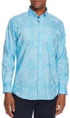 Tailorbyrd Jaiden Tonal-Checkered Slim Fit Button-Down Shirt
