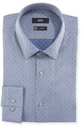 d09a9f124 BOSS Men's Slim Fit Dotted Travel Sport Shirt