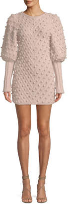 Zimmermann Fleeting Bauble Blouson-Sleeve Body-Con Dress