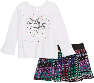 Kate Spade Cue The Confetti Tee & Skirt Set