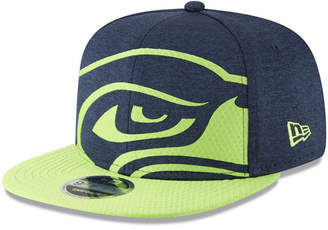 New Era Seattle Seahawks Oversized Laser Cut 9FIFTY Snapback Cap e929e15a816