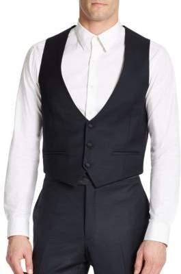 Tallia Orange Two-Pocket Wool Vest