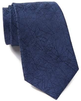Calvin Klein Shattered Abstract Silk Tie