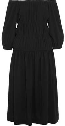 Sonia Rykiel Off-The-Shoulder Gathered Crepe Midi Dress