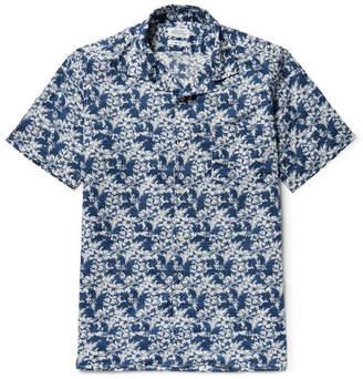 Hartford Slam Camp-Collar Printed Cotton Shirt