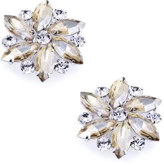 ElegantPark AJ Multi Color Sparkling Crystal Rhinestones Flower Shoes Decoration Evening Party Wedding Prom Fashion Clips 2 Pcs
