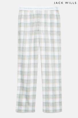 Next Womens Jack Wills Grey Marl Cassie Checked Lounge Pant