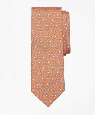 Brooks Brothers Frog Motif Print Tie