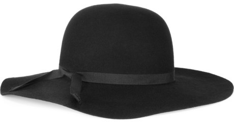 Helene Berman Wide-brimmed wool-felt hat