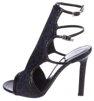 Tamara Mellon Ponyhair & Snakeskin Sandals