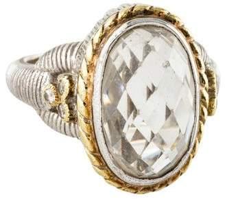 Judith Ripka Quartz & Diamond Oval Cocktail Ring