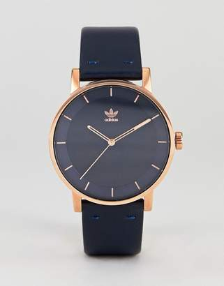 adidas Z08 District Leather Watch In Navy