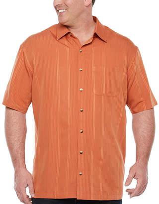 Van Heusen Mens Short Sleeve Striped Button-Front Shirt Big and Tall