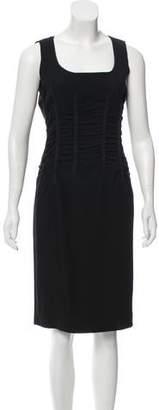 Dolce & Gabbana Ruched Sheath Dress