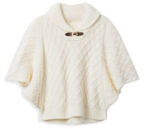 Janie and Jack Big Girl's Cable-Knit Sweater Cape