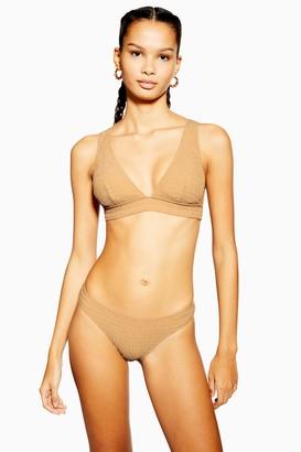 58bbedbfc0 Topshop Shirred High Leg Bikini Bottoms