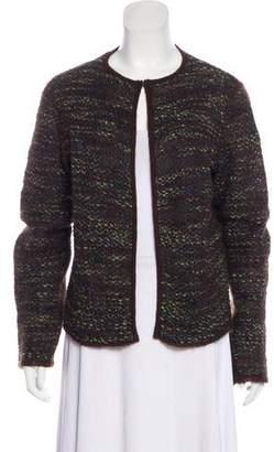 Max Mara Tweed Open Front Cardigan