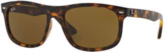 Ray-Ban Men's Flat-Top Plastic Sunglasses, Havana