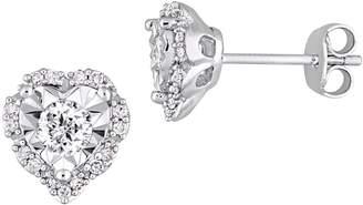 Laura Ashley Sterling Silver 0.33 CT. T.W. Diamond Stud Earrings