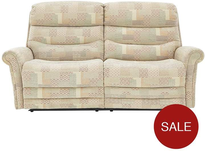 Salone 3-Seater Fabric Manual Recliner Sofa