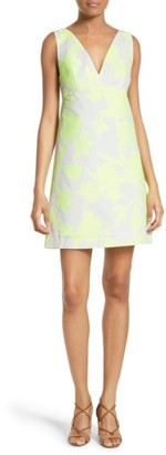 Women's Milly Floral Jacquard A-Line Minidress $385 thestylecure.com