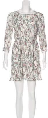 Anine Bing Pleated Floral Print Dress