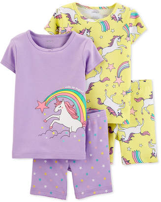Carter's Carter Baby Girls 4-Pc. Unicorn Pajamas Set