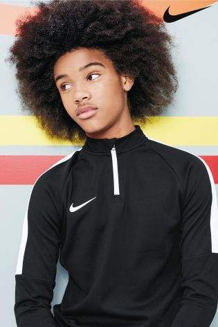 Boys Nike Academy Drill Top - Black
