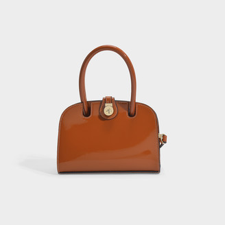 Ladybird Manu Atelier Micro Bag In Soft Crinkled Patent Calf Leather