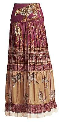 Johanna Ortiz Women's The Last Kashmiri Printed Maxi Skirt
