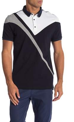 Karl Lagerfeld Colorblock Short Sleeve Pique Polo