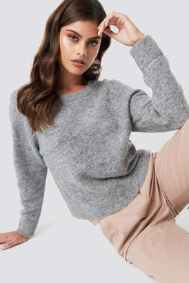 Samsoe & Samsoe Nor O-N Short Sweater Bayberry Mel