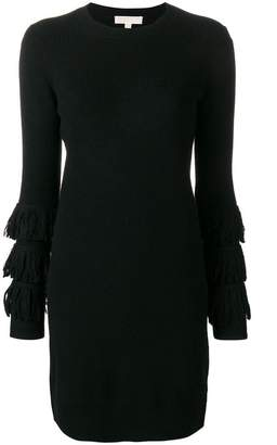 MICHAEL Michael Kors fringed sleeve sweater dress