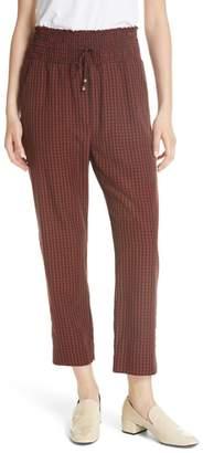 Nanushka Harlem Gingham Crop Pants