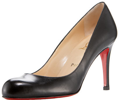 Christian Louboutin  Christian Louboutin Simple Napa Leather Red Sole Pump, Black