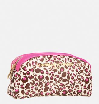Avenue Leopard Double Zip Cosmetic Bag
