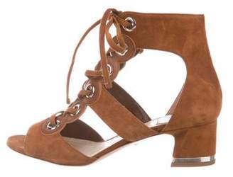 Christian Dior Suede Lace-Up Sandals