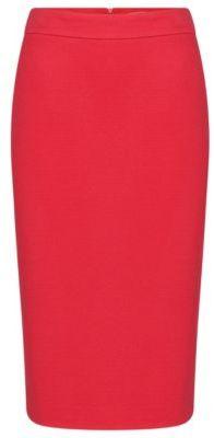 Hugo Boss Melala Viscose Textured Pencil Skirt 0pink $265 thestylecure.com