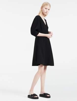 Calvin Klein platinum double weave stretch dress