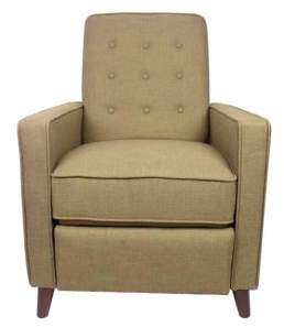 HomePop Recliner Chair-Taupe