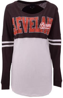 5th & Ocean Women's Cleveland Browns Sweeper Long Sleeve T-Shirt