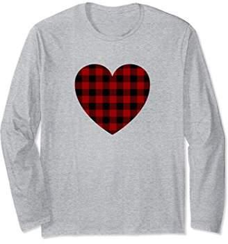 Buffalo David Bitton Plaid Heart Shirt - Valentines Day Heart Long Sleeve