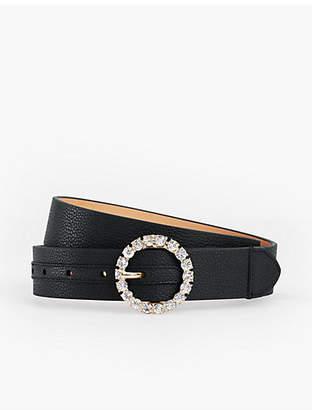 Talbots Plus Size Pebbled Leather Belt