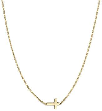 "Bloomingdale's 14K Yellow Gold Small Cross Necklace, 18"" - 100% Exclusive"