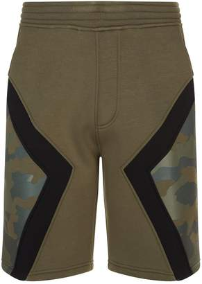 Neil Barrett Camo Sweat Shorts