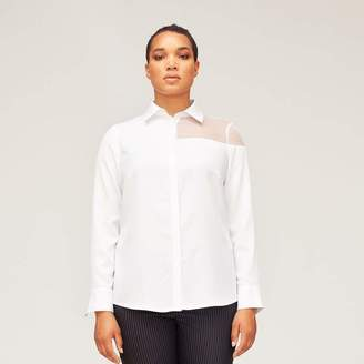 Van Der Nag Cut Out Blouse Top in White Size 42
