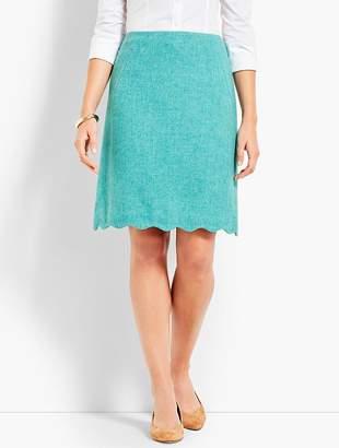Talbots Scallop-Hem Shetland Skirt